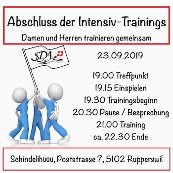 Intensiv-Trainings der Nationalmannschaft